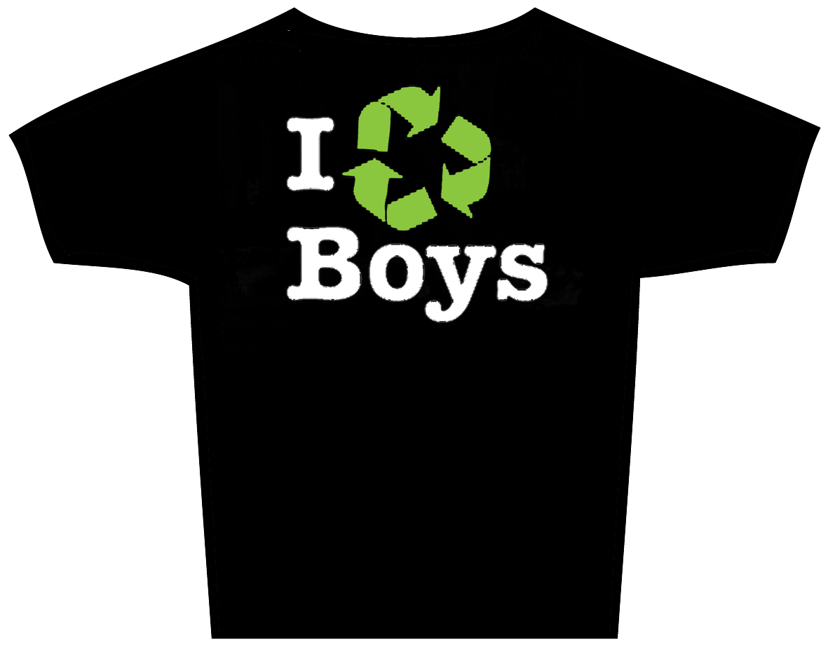 "T-Shirt ""I recycle boys"""